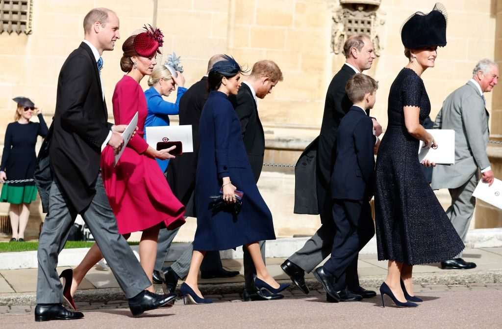 Meghan Markle and Prince Harry at Princess Eugenie's wedding