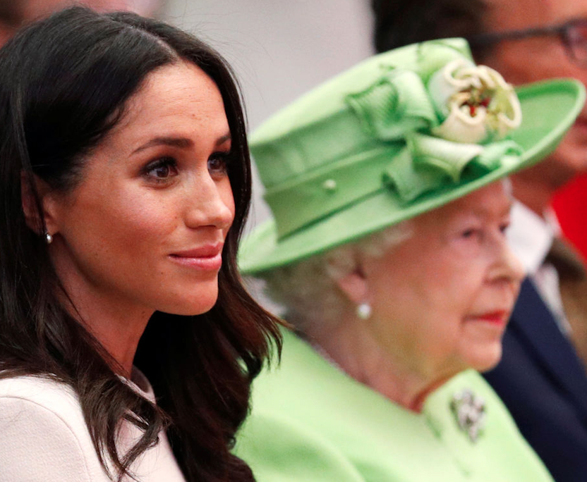 Meghan and Queen Elizabeth sitting together