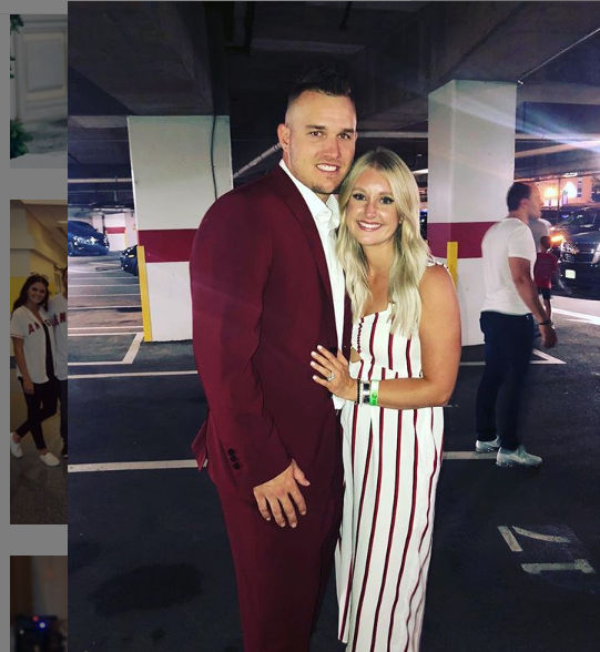 Mike Trout and his wife, Jessica Cox