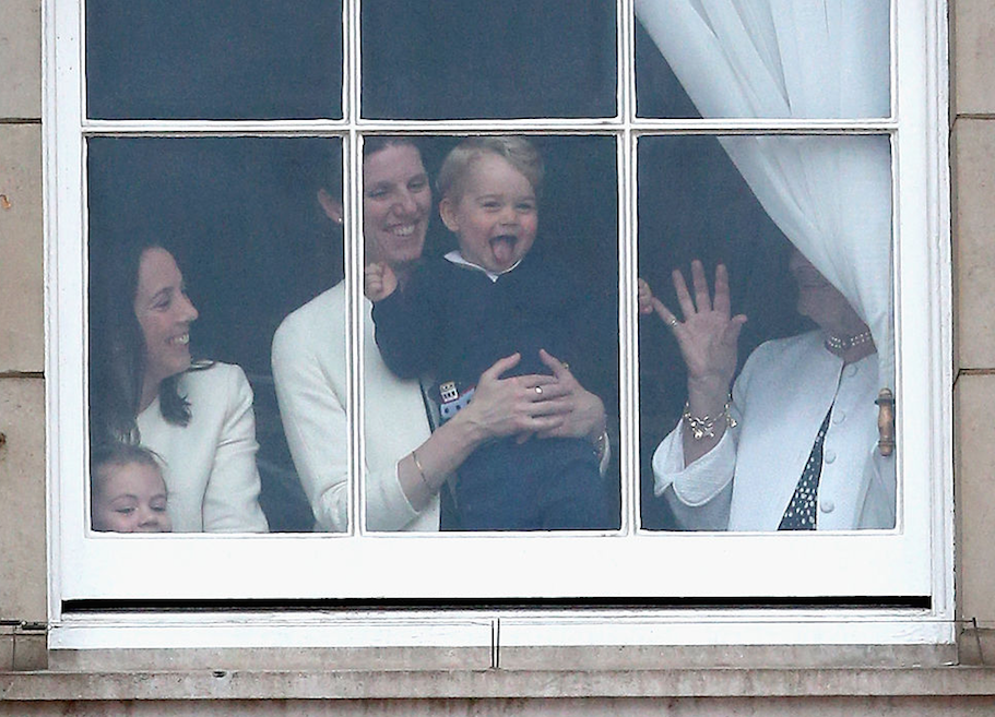 The royal nanny holding Prince George