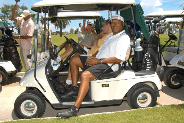 O.J. Simpson golfing