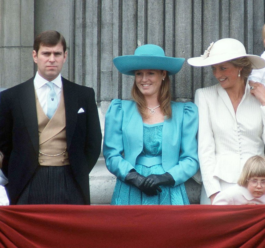 Prince Andrew, Sarah Ferguson, and Princess Diana