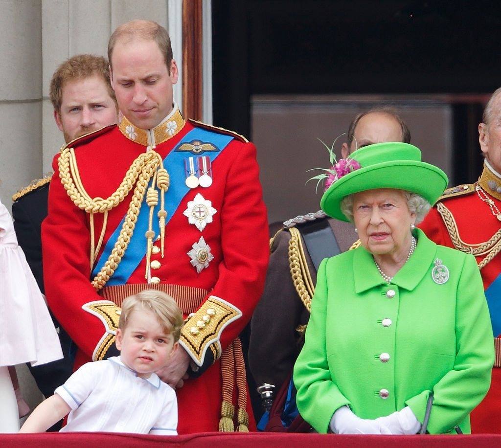 Prince George and Queen Elizabeth