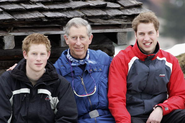 Prince Harry, Prince Charles, and Prince William
