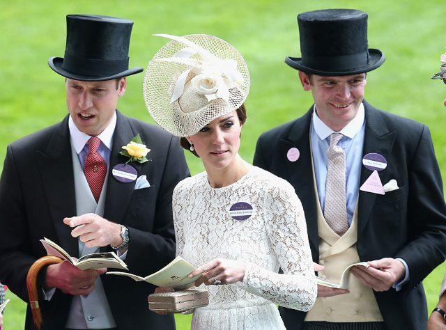 Prince William, Kate Middleton, and James Meade.
