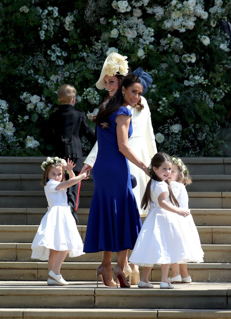 Kate Middleton, Princess Charlotte, and other bridesmaids