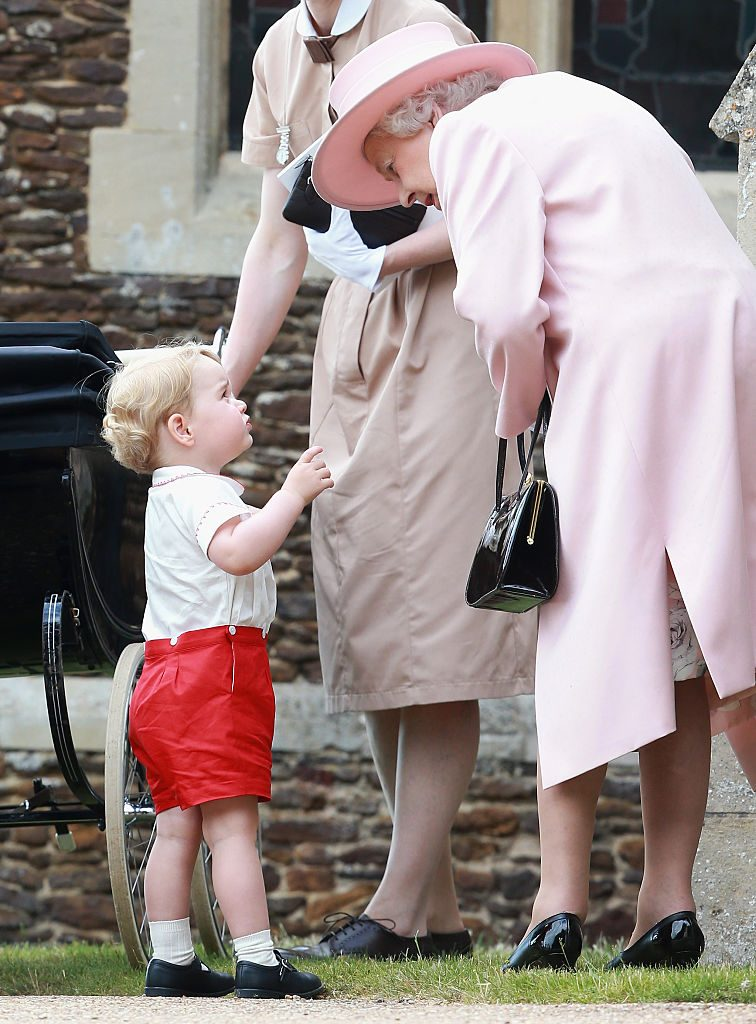 Queen Elizabeth and Prince George