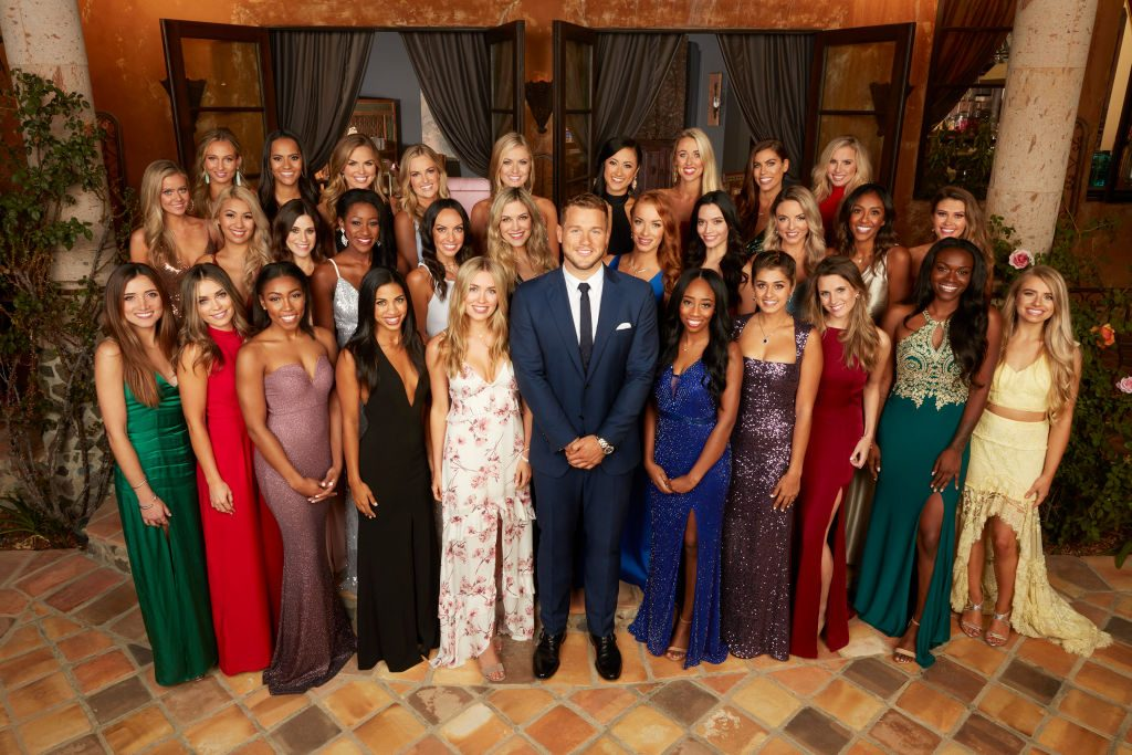 Colton Underwood and the contestants on The Bachelor