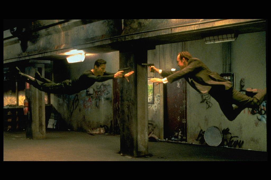 Keanu Reeves and Hugo Weaving