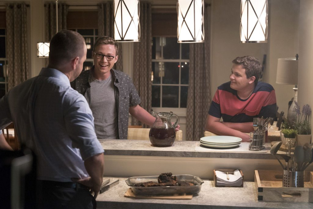 Donnie Wahlberg, Tony Terraciano, and Andrew Terraciano on Blue Bloods