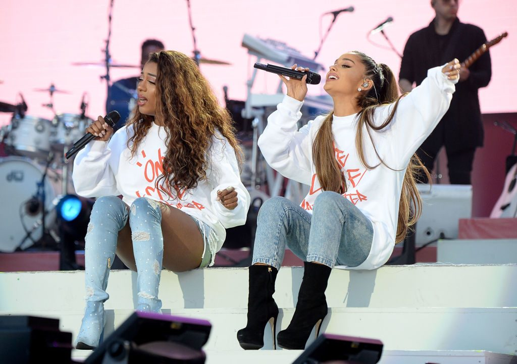 Victoria Monet and Ariana Grande   Kevin Mazur/One Love Manchester/Getty Images for One Love Manchester