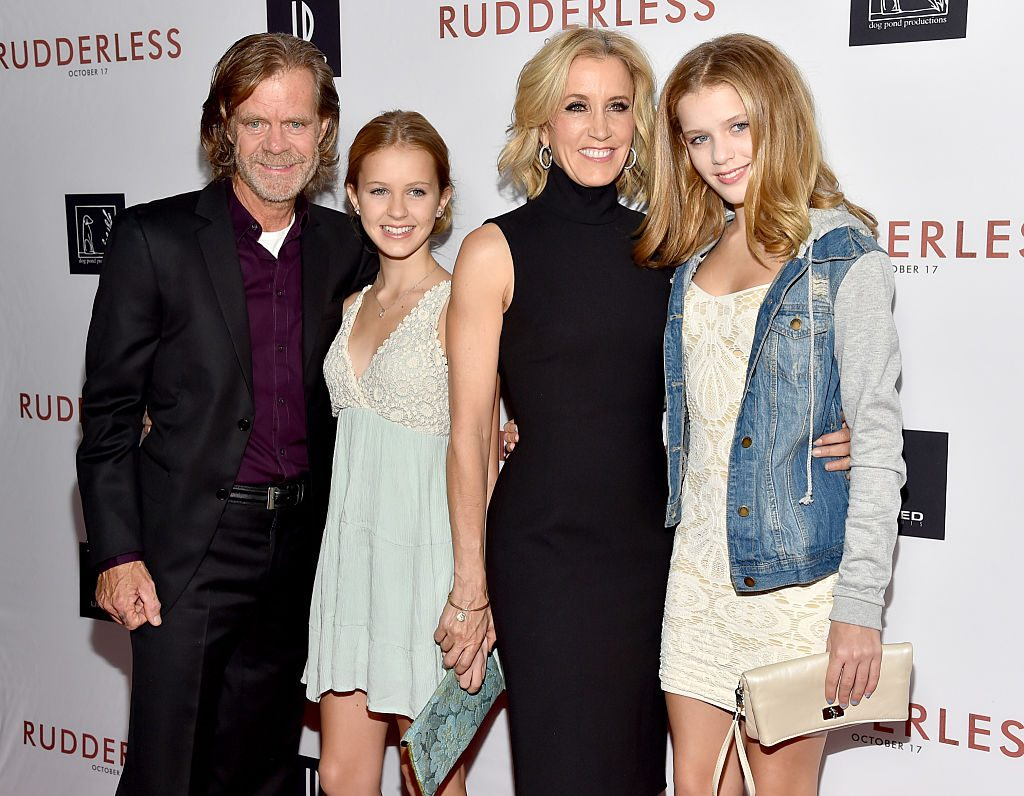 William H. Macy, Grace Macy, actress Felicity Huffman and Sophia Macy