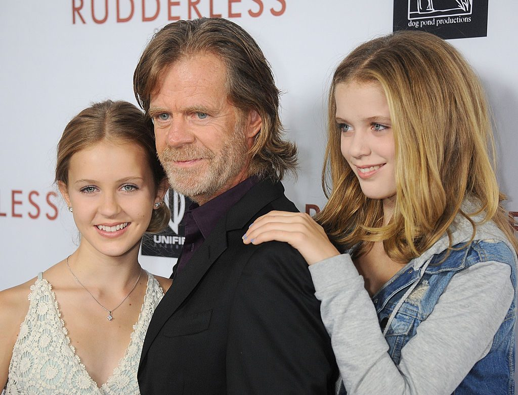 Actor William H. Macy and daughter's Georgia Grace Macy and Sophia Grace Macy
