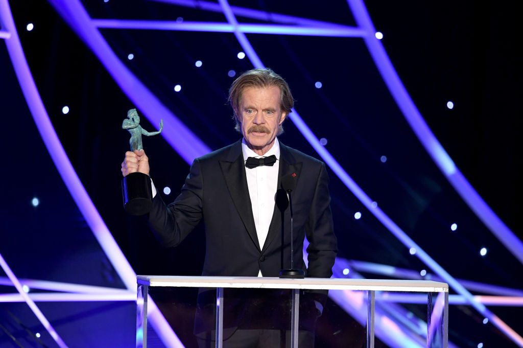 illiam H. Macy accepts the Outstanding Performance by a Male Actor in a Comedy Series award for 'Shameless' |Kevin Winter/Getty Images