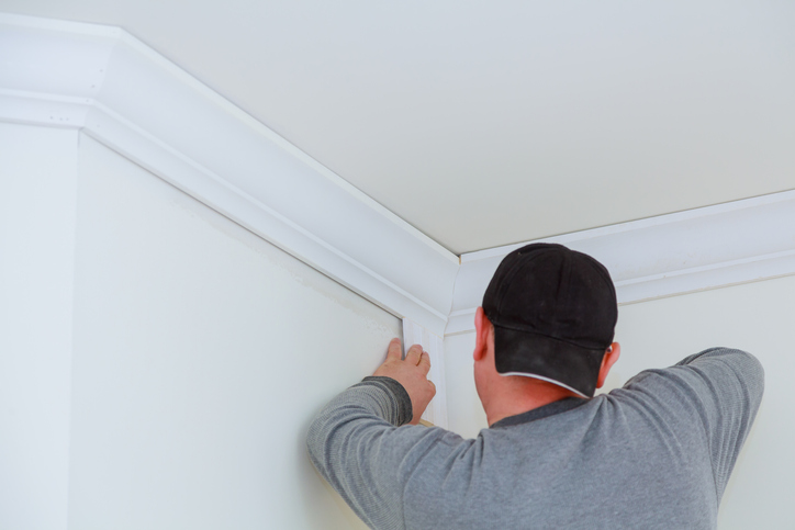 Installing trim in a room
