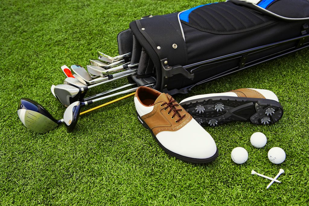shoes clubs equipment