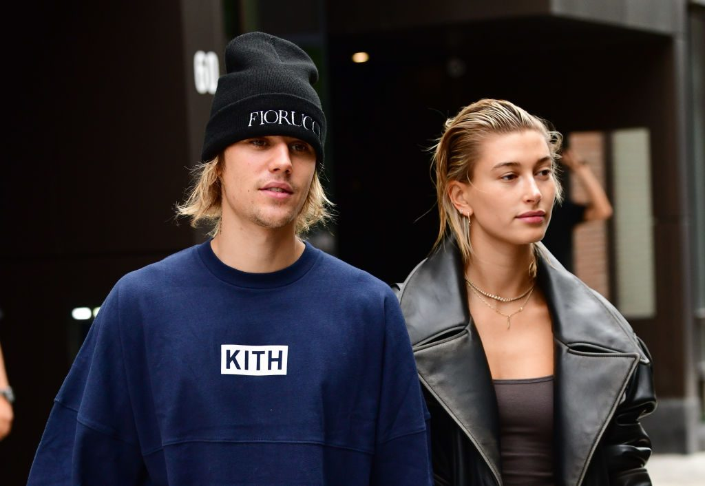 Justin Bieber and Hailey Baldwin in New York City September 14, 2018