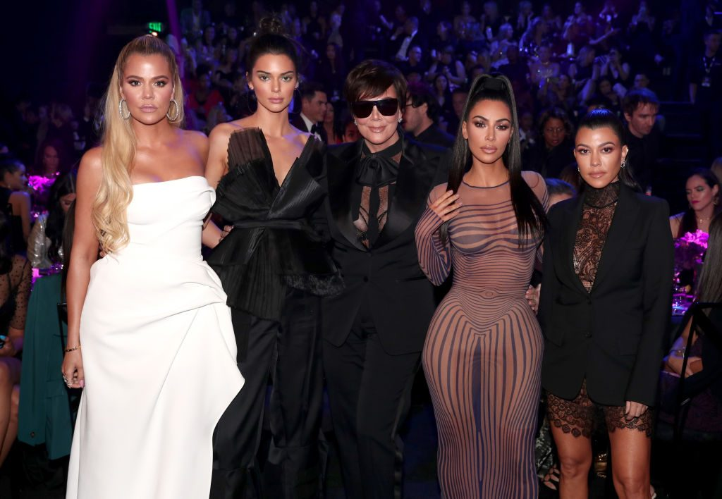Kardashian during the 2018 E! People's Choice Awards