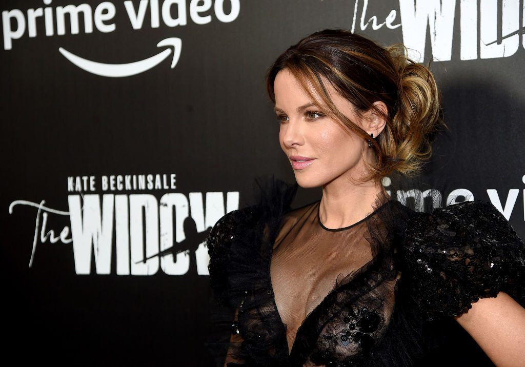 Kate Beckinsale at The Widow premiere in New York city.