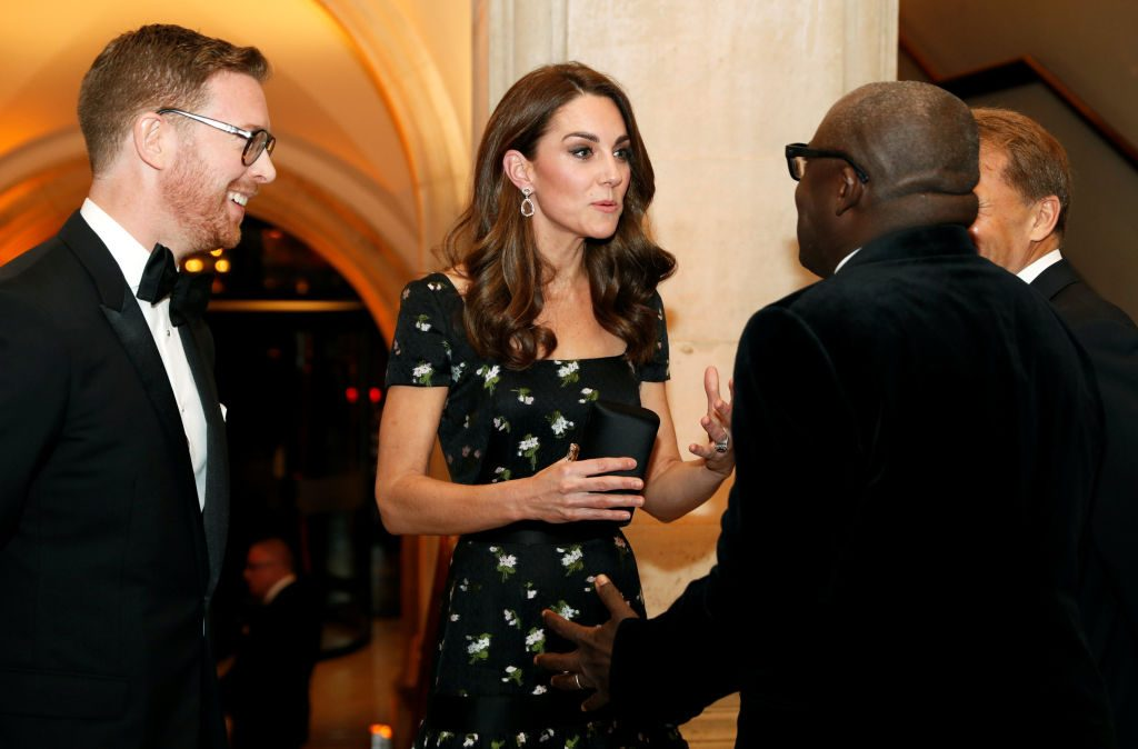 Kate Middleton attends a gala at the National Portrait Gallery