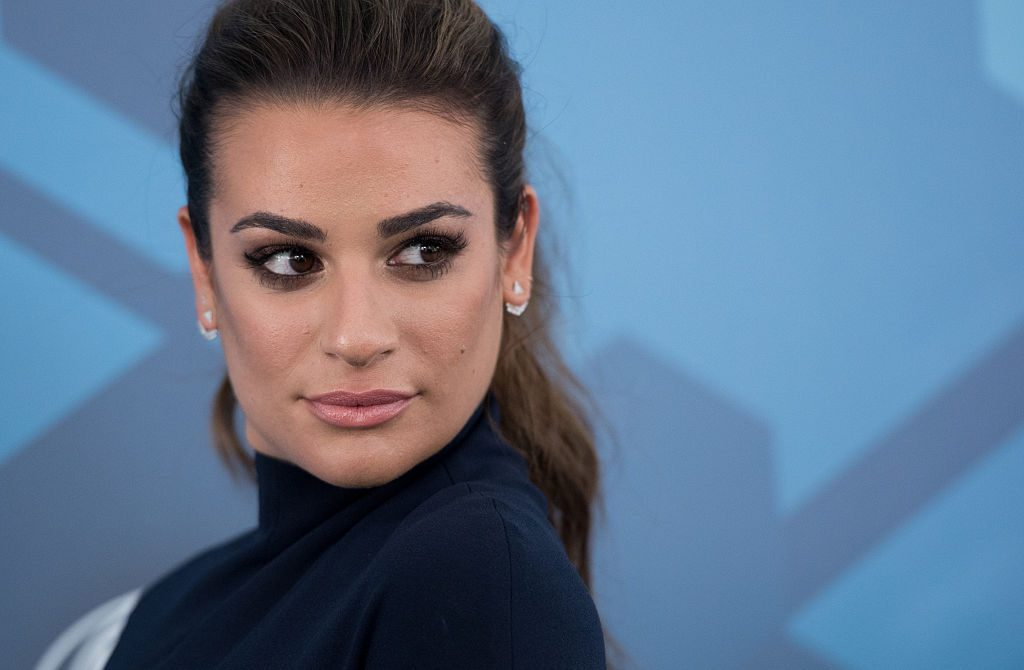 Lea Michele attends the 2016 Fox Upfront at Wollman Rink, Central Park.