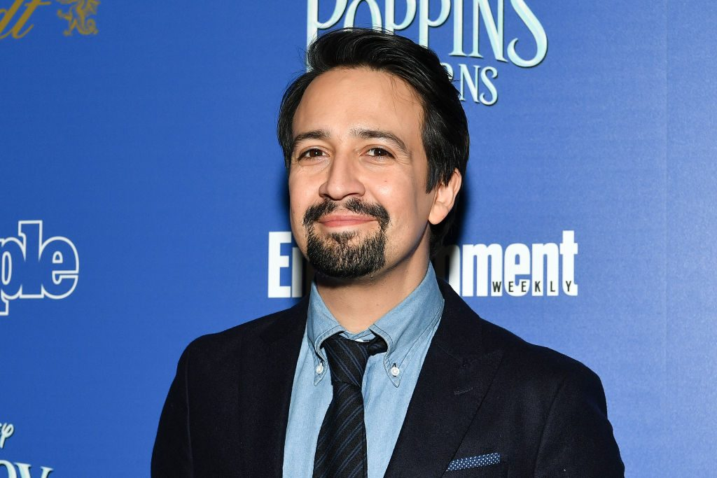 "Lin-Manuel Miranda attends a screening of ""Mary Poppins Returns"" hosted by The Cinema Society."
