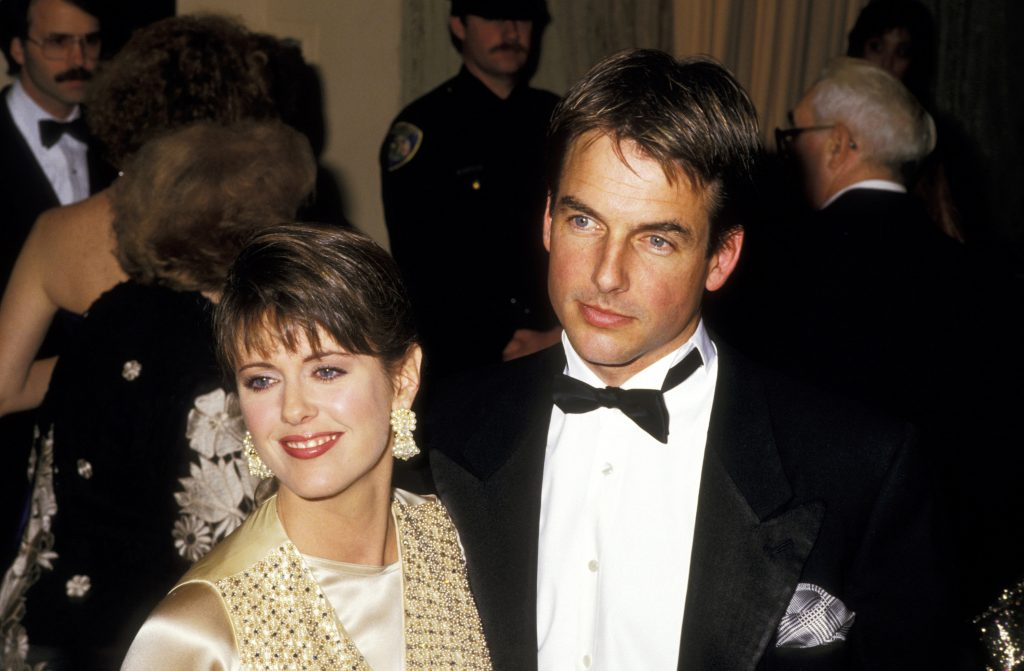 Mark Harmon and wife Pam Dawber at the Golden Globes.