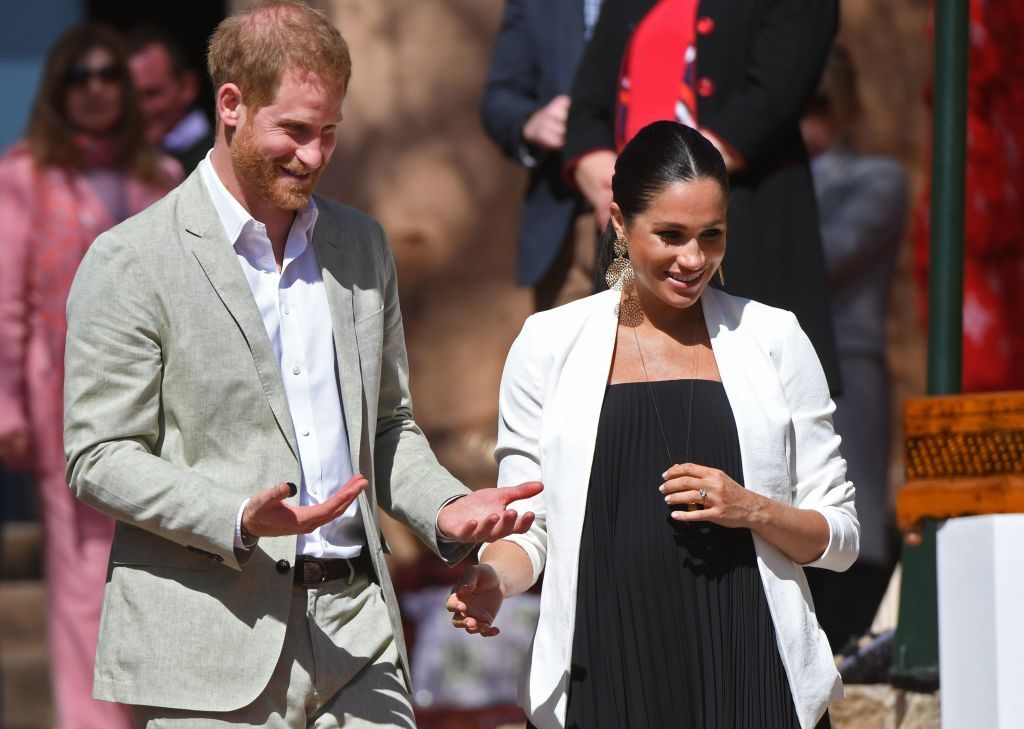 Meghan Markle and Prince Harry in Morocco.