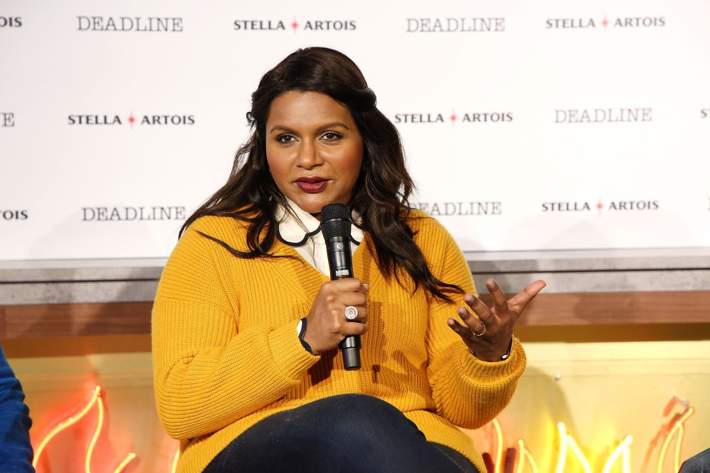 Mindy Kaling speaks onstage