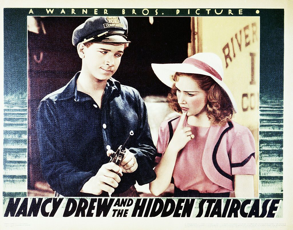A poster for the 1939 movie Nancy Drew and the Hidden Staircase