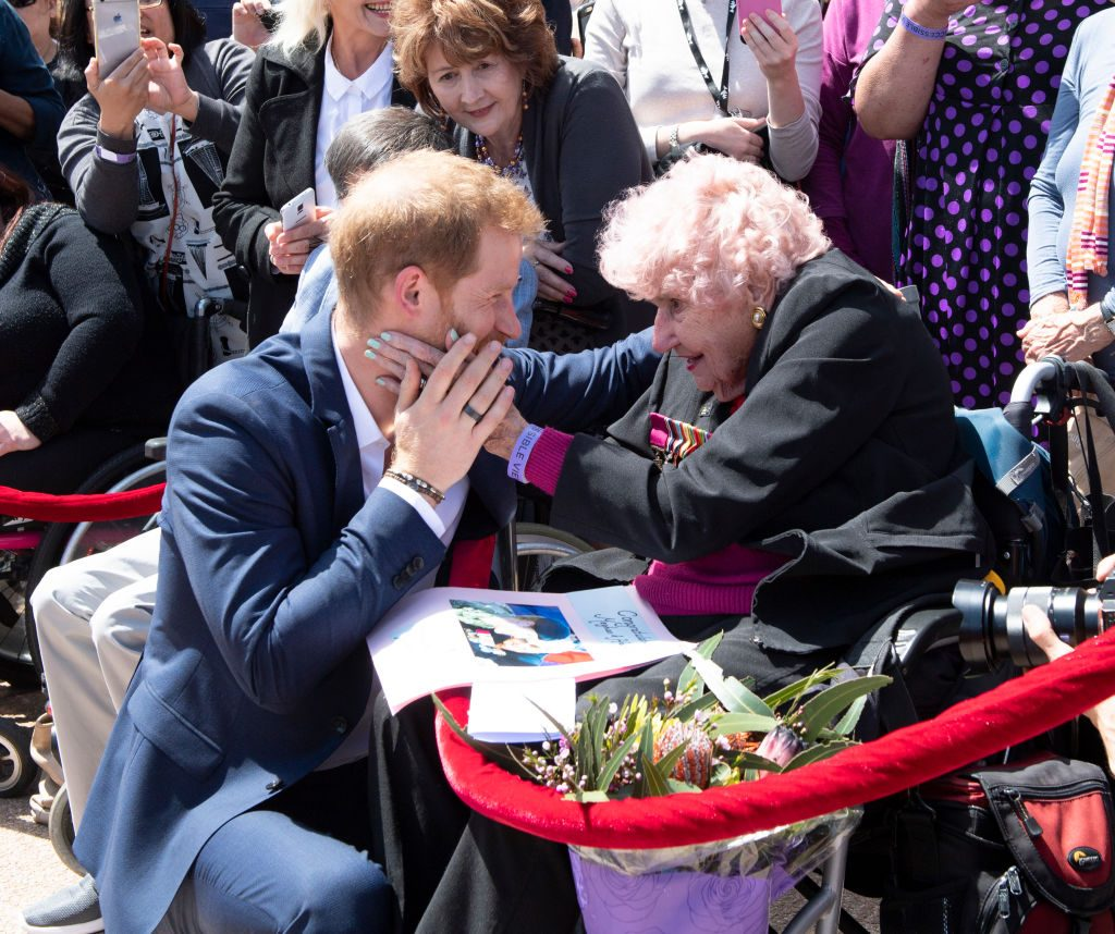 Prince Harry with fan Daphne Dunne at Sydney Opera House in Australia in 2018