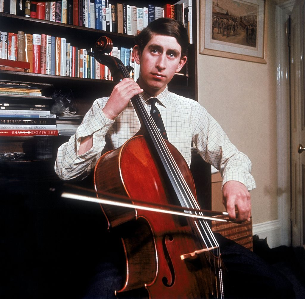 Prince Charles with a cello