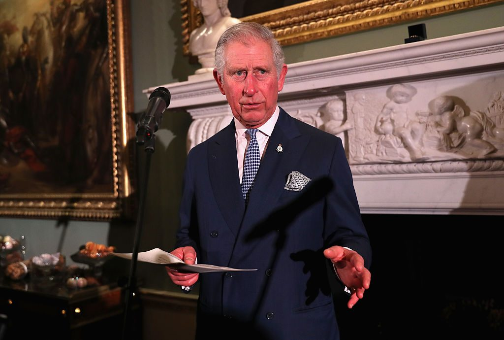 Prince Charles delivers a speech