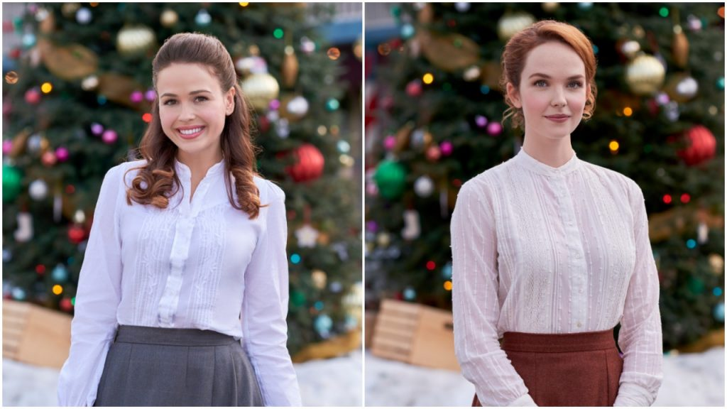 Jocelyn Hudon and Morgan Kohan in When Calls the Heart: The Greatest Christmas Blessing
