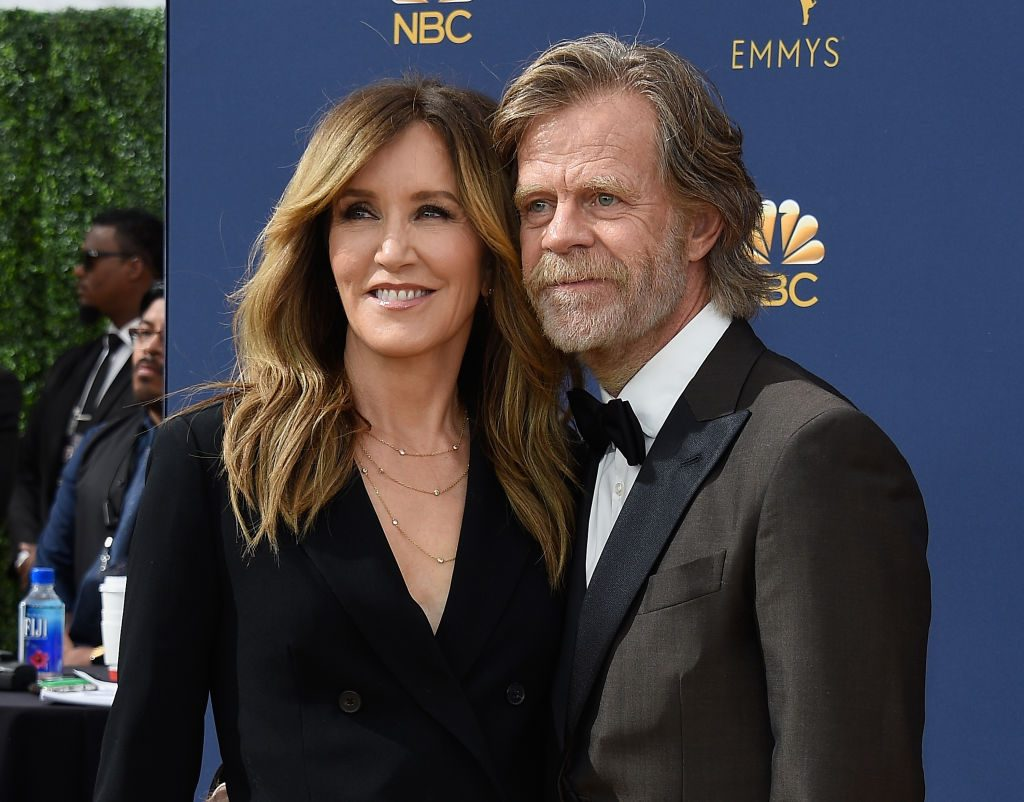 William H. Macy and Felicity Huffman at NBC's 70th Annual Primetime Emmy Awards/