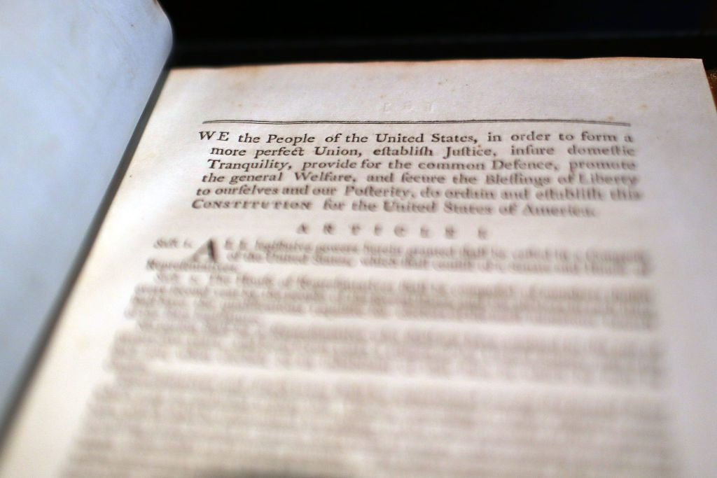 George Washington's former personal copy of the constitution