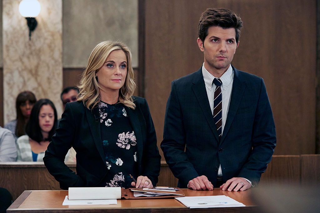Amy Poehler and Adam Scott in Parks and Recreation