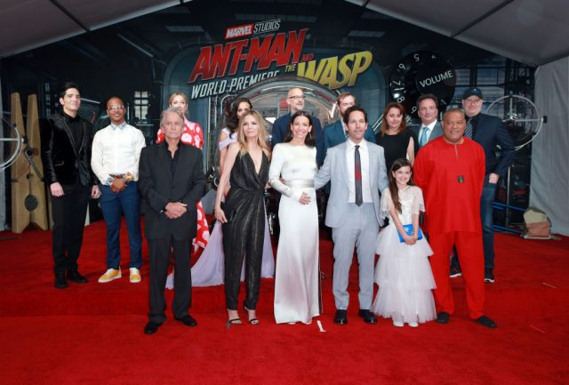 Ant-Man and The Wasp cast and crew at premiere.