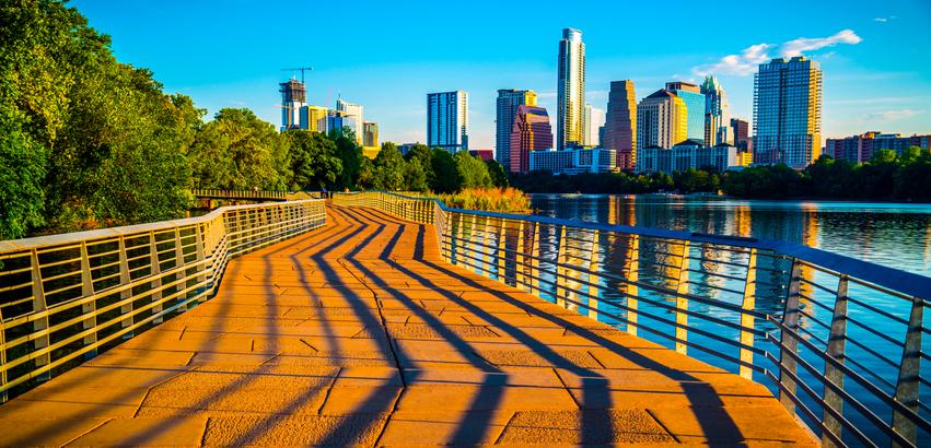 Austin skyline at sunrise