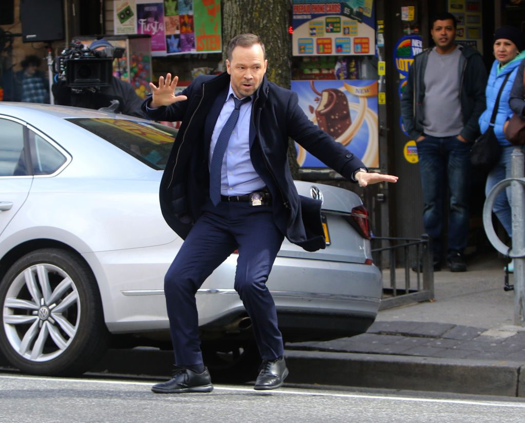 """Donnie Wahlberg is seen filming """"Blue Bloods"""""""