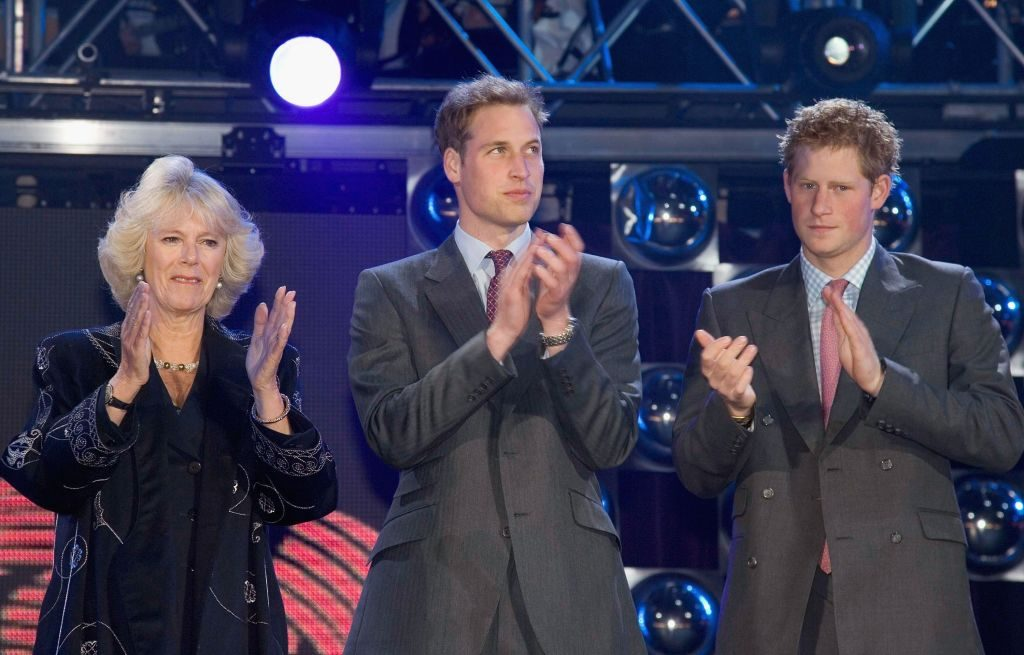 Camilla Parker Bowles, Prince William, and Prince Harry