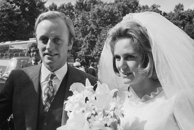 Andrew Parker Bowles and Camilla