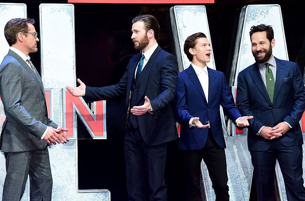 Robert Downey Jr., Tom Holland, Paul Rudd, and Chris Evans