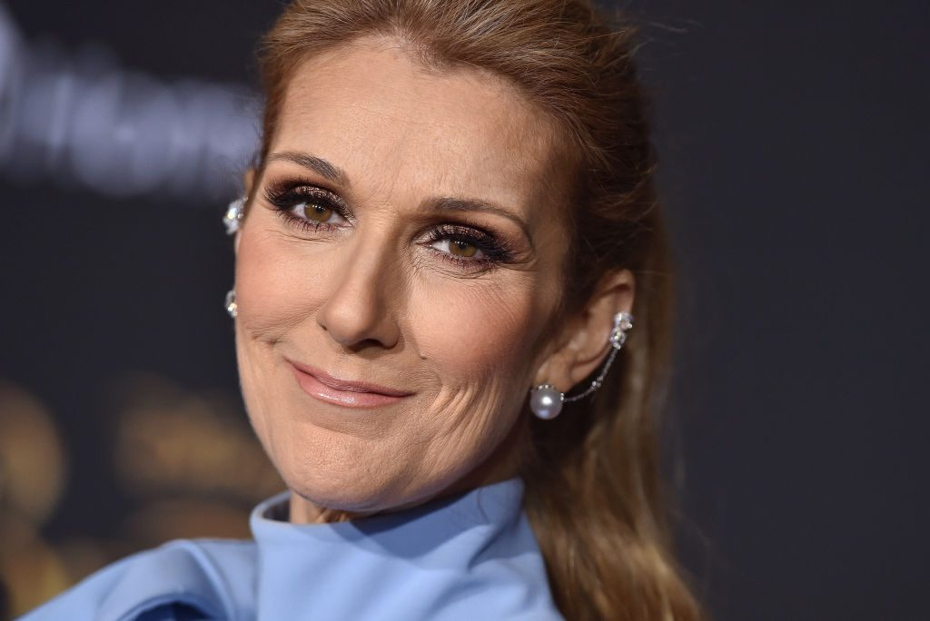 Celine Dion arrives at the Los Angeles Premiere of 'Beauty and the Beast' at El Capitan Theatre.