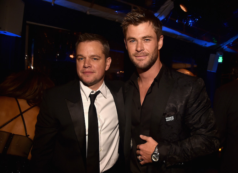 Chris Hemsworth and Matt Damon