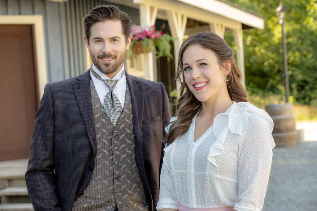 Chris McNally and Erin Krakow from When Calls the Heart