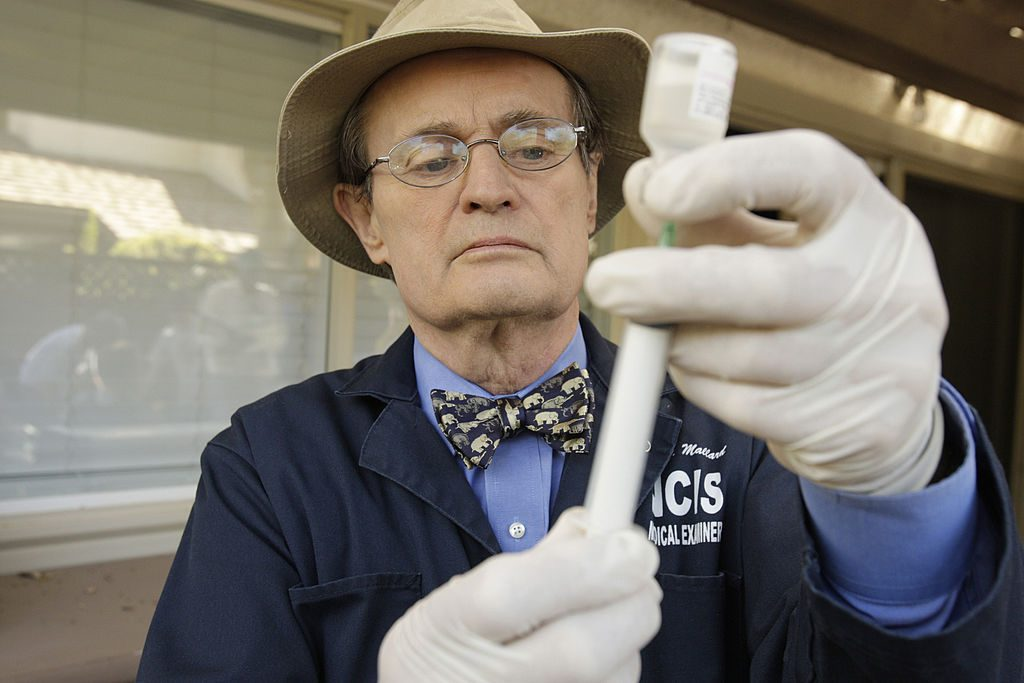 David McCallum on the set, NCIS  Cliff Lipson/CBS Photo Archive/Getty Images