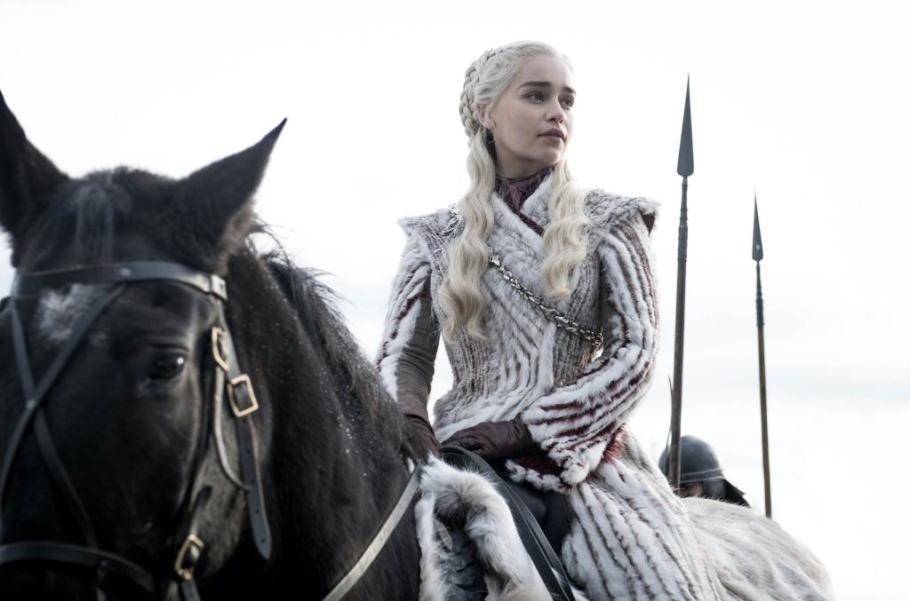 Emilia Clarke as Daenerys Targaryen on 'Game of Thrones'