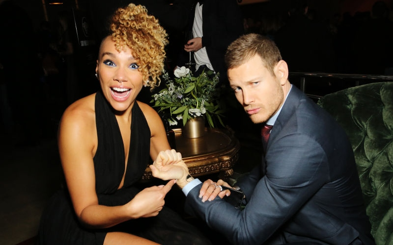 Emmy Raver-Lampman and Tom Hopper