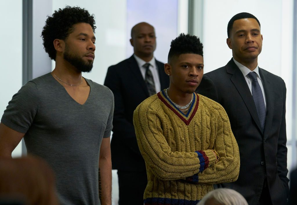 L-R: Jussie Smollett, Bryshere Gray, and Trai Byers in Empire